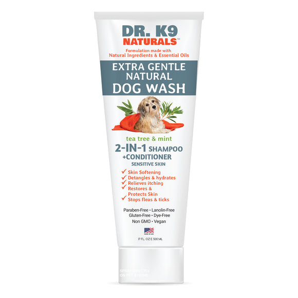 Dr. K9 Naturals 2-in-1 Shampoo & Conditioner, Tea Tree/Mint