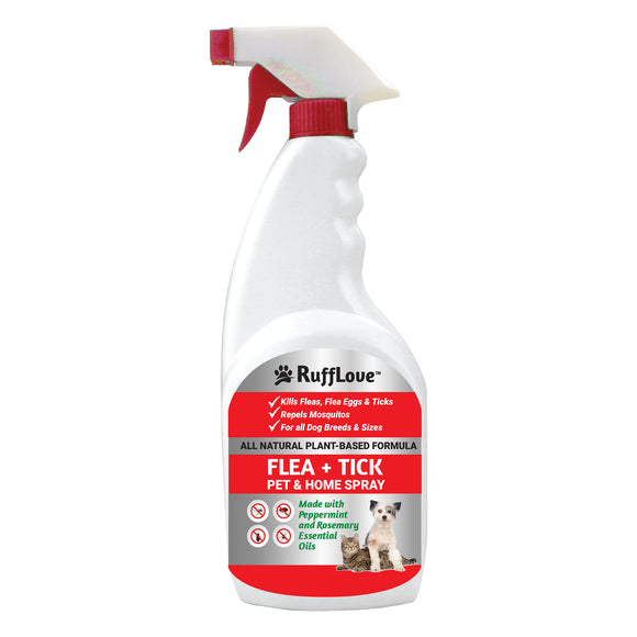 RuffLove Flea + Tick Pet & Home Spray, Peppermint/Rosemary