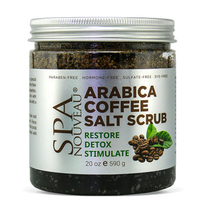 Spa Nouveau Arabica Coffee Salt Scrub, 20 oz