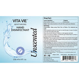 Vita Vie Moisturizing Hand Disinfectant Gel, Unscented, 8 oz