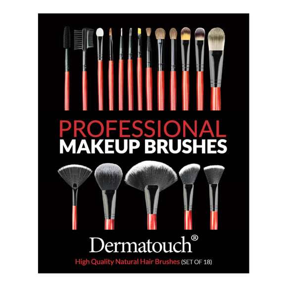 Dermatouch Professional 18-PC Makeup Brush Set