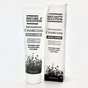 Nature's Solution Exfoliating Charcoal Facial Scrub