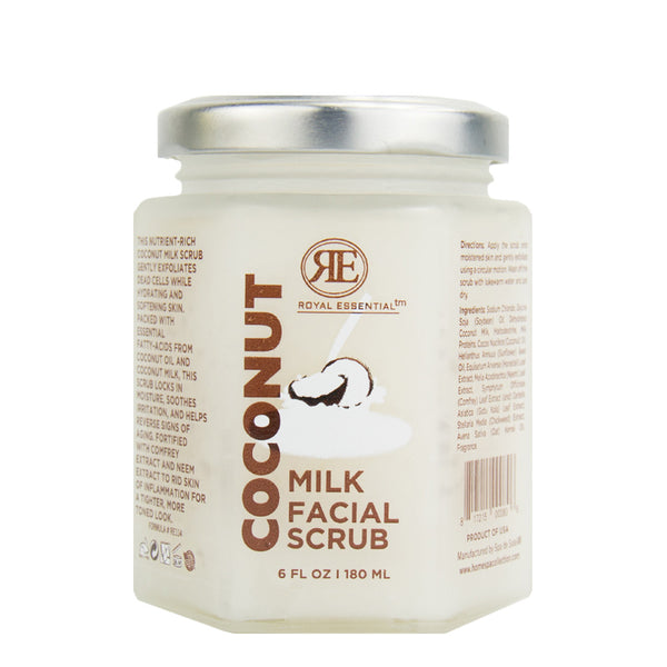 Royal Essential Coconut Milk Facial Scrub, 6 oz