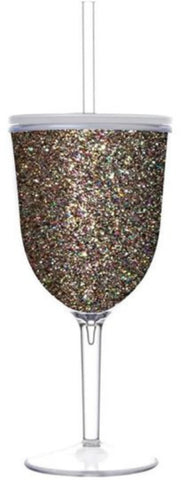 Acrylic Glitter Wine Glass