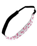 Pink ribbon headband