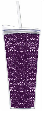 Purple Glitter 22oz Tumbler
