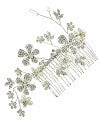 Bridal hair comb with flower accents