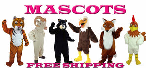 Mascot costumes are made to order in the USA of high-quality materials and top-class craftsmanship.