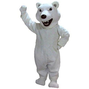 Mean Polar Bear Mascot Costume