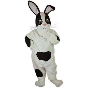 Checkered Rabbit Mascot Costume
