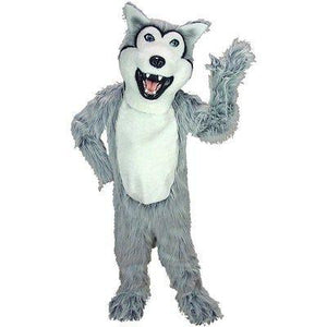 Grey Husky Dog Mascot Costume