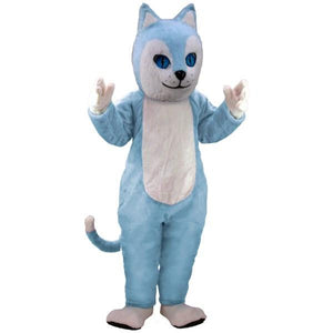 Blue Cat Lightweight Mascot Costume