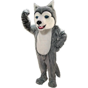 Grey Husky Lightweight Mascot Costume