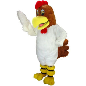 White Rooster Lightweight Mascot Costume