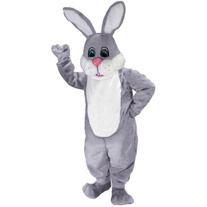 Grey & White Lightweight Mascot Costume