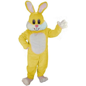 Yellow Toon Rabbit Lightweight Mascot Costume