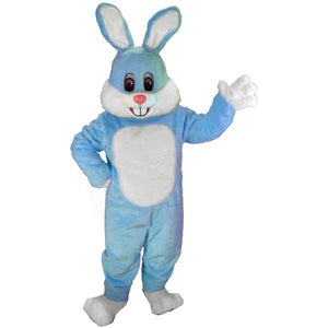 Light Blue Toon Rabbit Lightweight Mascot Costume