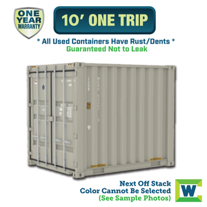 10' shipping container Chicago, 10' One Trip shipping container, 10' shipping container Chicago, Chicago shipping containers for sale, rent storage container Chicago, conex for sale, conex container, cargo container, intermodal shipping container, storage container
