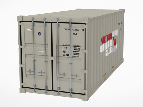 20' Shipping Container 3D Model - Augmented Reality