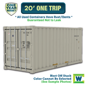20' shipping container Chicago, 20' One Trip shipping container, 20' shipping container Chicago, Chicago shipping containers for sale, rent storage container Chicago, conex for sale, conex container, cargo container, intermodal shipping container, storage container