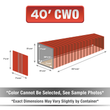 40' shipping container for sale, 40' shipping container, 40' container, shipping container for sale, conex, cargo container, 40' container, 40' storage container, buy shipping container, used shipping container, used shipping container for sale, 40' CWO container, cargo worthy container