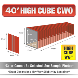 40' high cube shipping container for sale, 40' high cube shipping container, 40' high cube container, shipping container for sale, conex, cargo container, 40' high cube container, 40' high cube storage container, buy shipping container, used shipping container, used shipping container for sale, 40' High Cube CWO container, cargo worthy High Cube container