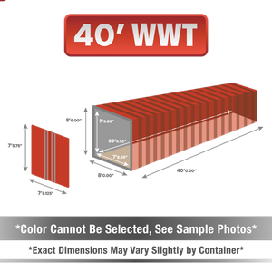 40' shipping container for sale, 40' shipping container, 40' container, shipping container for sale, conex, cargo container, 40' container, 40' storage container, buy shipping container, used shipping container, used shipping container for sale, 40' WWT container, wind and water tight container