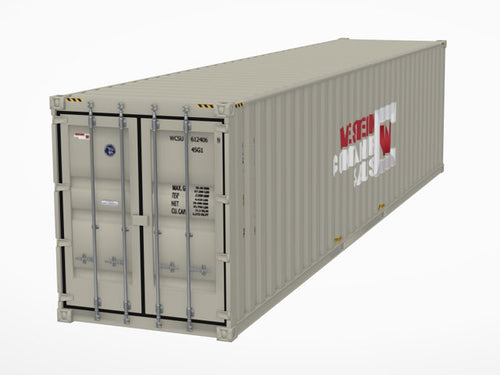 40' High Cube Shipping Container 3D Model - Augmented Reality