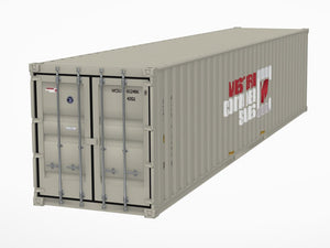 40' Shipping Container 3D Model - Augmented Reality