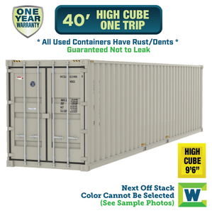 40' high cube shipping container Chicago, used 40' high cube One Trip shipping container, 40' high cube shipping container Chicago, Chicago shipping containers for sale, rent storage container Chicago, conex for sale, conex container, cargo container, intermodal shipping container, storage container