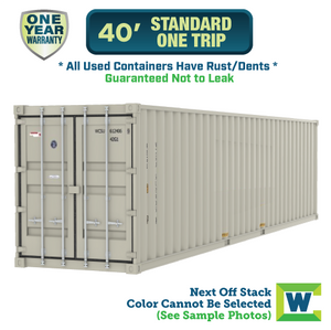 40' shipping container Chicago, 40' One Trip shipping container, 40' shipping container Chicago, Chicago shipping containers for sale, rent storage container Chicago, conex for sale, conex container, cargo container, intermodal shipping container, storage container