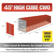 45' high cube shipping container for sale, 45' high cube shipping container, 45' high cube container, shipping container for sale, conex, cargo container, 45' high cube container, 45' high cube storage container, buy shipping container, used shipping container, used shipping container for sale, 45' High Cube CWO container, cargo worthy High Cube container