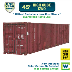 45' high cube cargo worthy shipping container Chicago, 45' high cube CWO shipping container, 45' high cube shipping container Chicago, Chicago shipping containers for sale, rent storage container Chicago, conex for sale, conex container, cargo container, intermodal shipping container, storage container