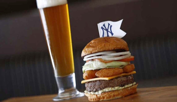 burger, yankee burger, beer, new york, yankees