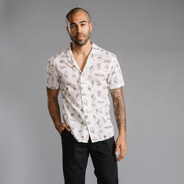 Truman Camp Shirt in Knot Print