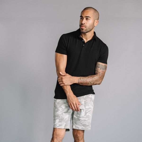 Nicholas Modal Polo in Black