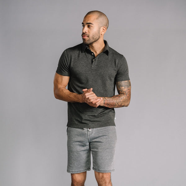 Nicholas Modal Polo in Charcoal