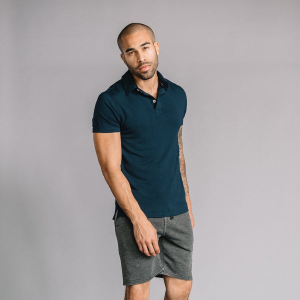 Nicholas Modal Polo in Navy