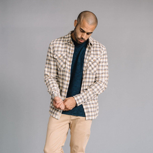 Truman Flap Pocket Shirt in Yellow Plaid