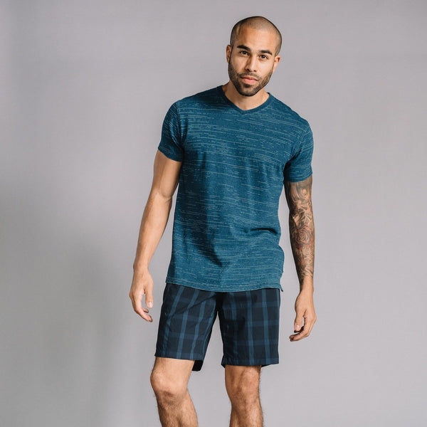 Morgan Bermuda Short in Stretch Plaid Ripstop