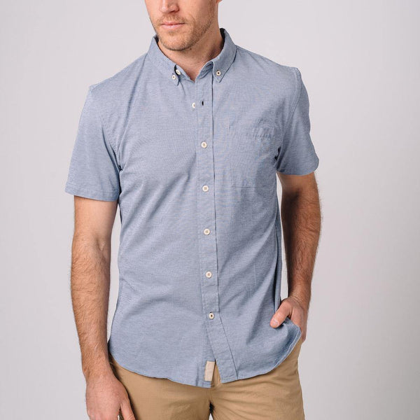 Truman Short Sleeve Oxford in Blue