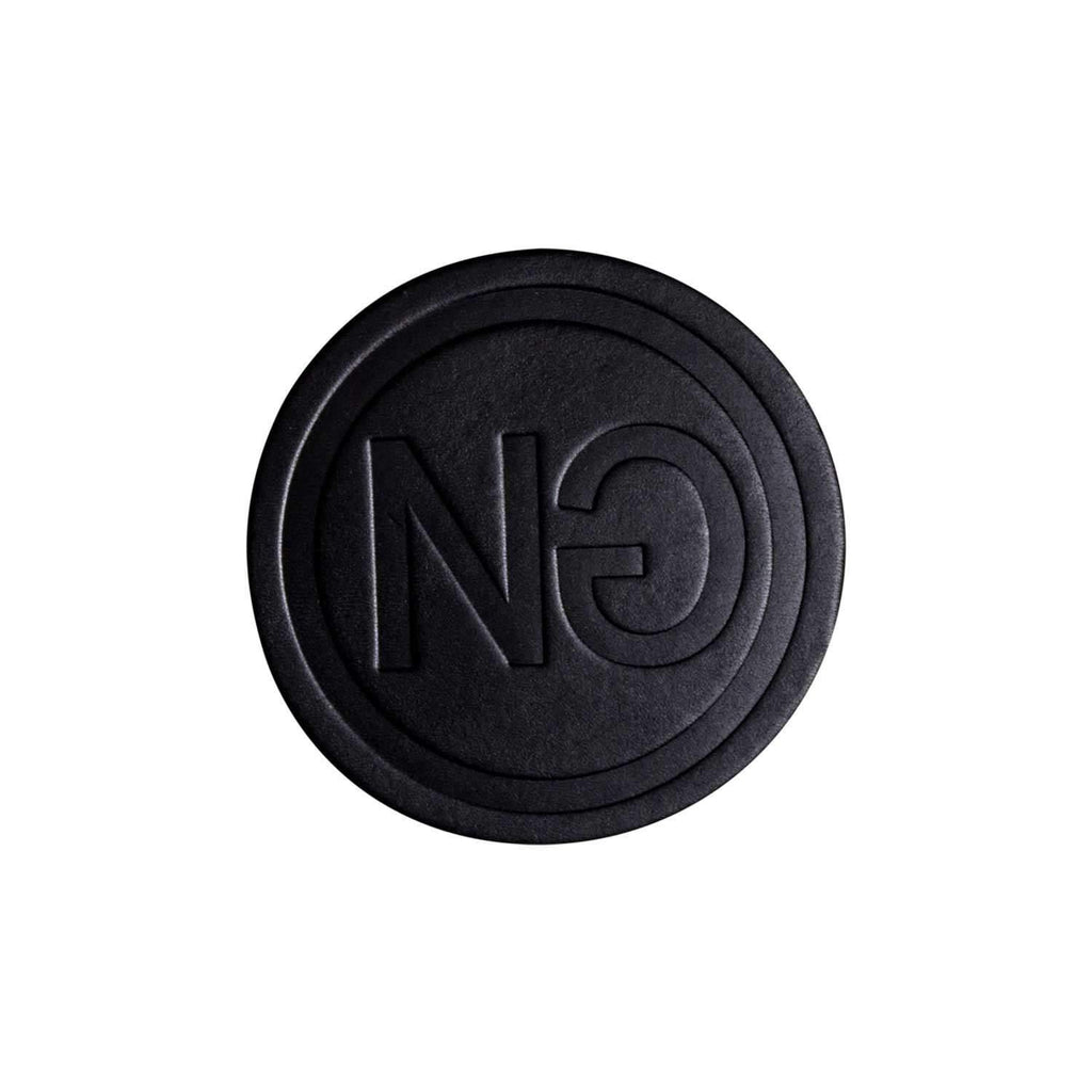 Logo Embossed Coaster Set Black