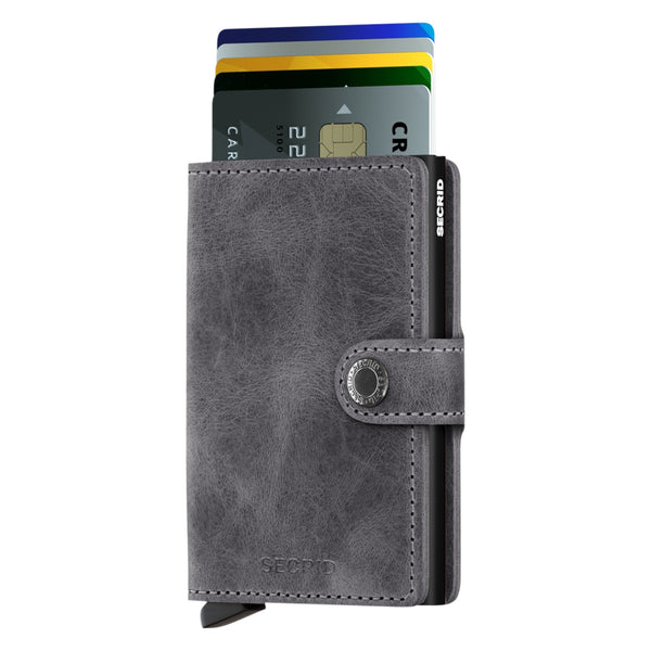 Miniwallet Vintage in Grey-Black