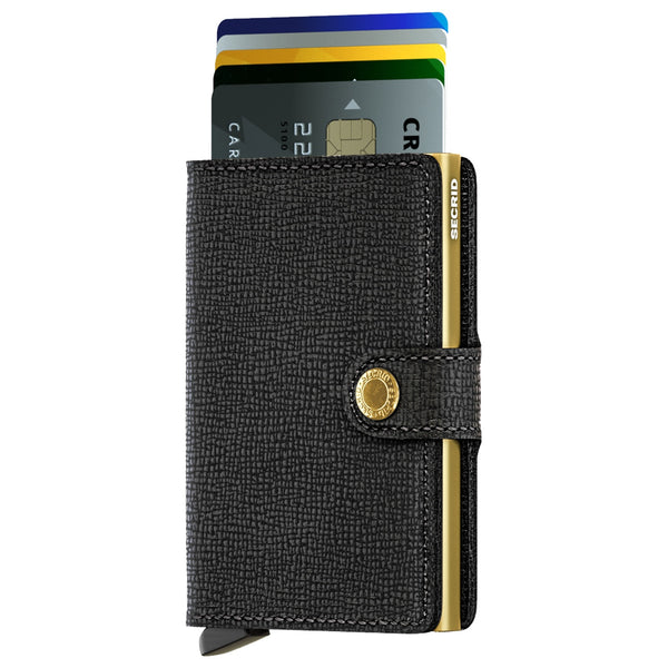 Miniwallet Crisple in Black-Gold