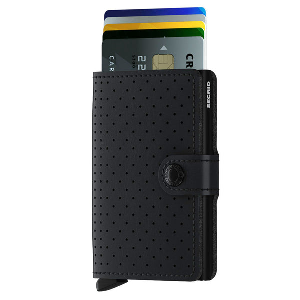 Miniwallet Perforated in Black