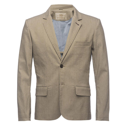 Kurt Blazer in Slub Tan