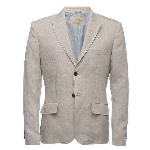 F Scott Blazer in Natural Linen