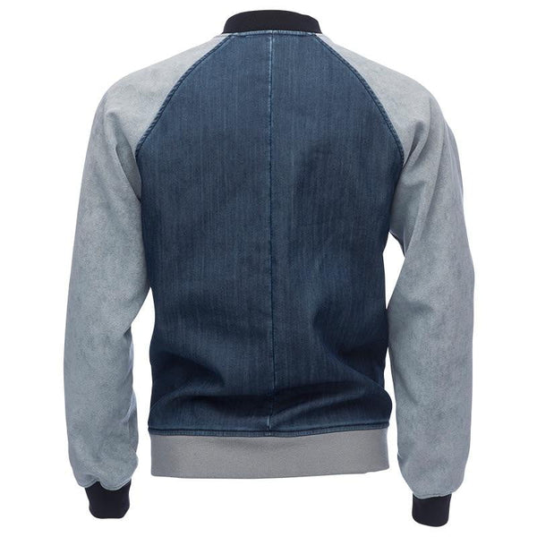 Varsity Jacket in Denim Ultrasuede