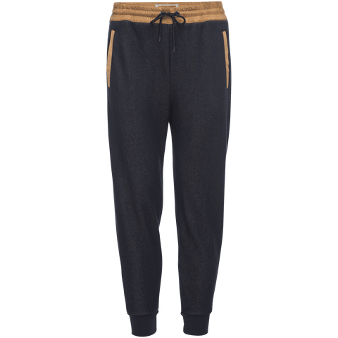Robinson Velour Back Jogger in Navy