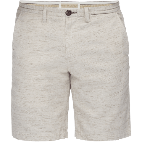 Morgan Slub Bermuda Short in Oatmeal/Brown